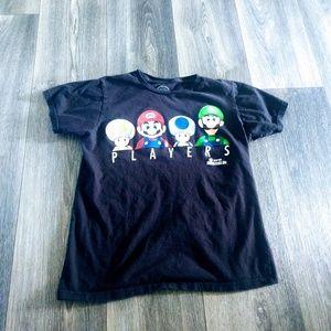 Small super Mario Bros tee shirt black